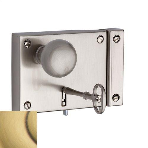 Satin Brass and Brown 5704 Small Horizontal Rim Lock