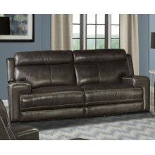 Glacier Graphite Power Sofa