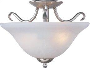 Basix 2-Light Semi-Flush Mount