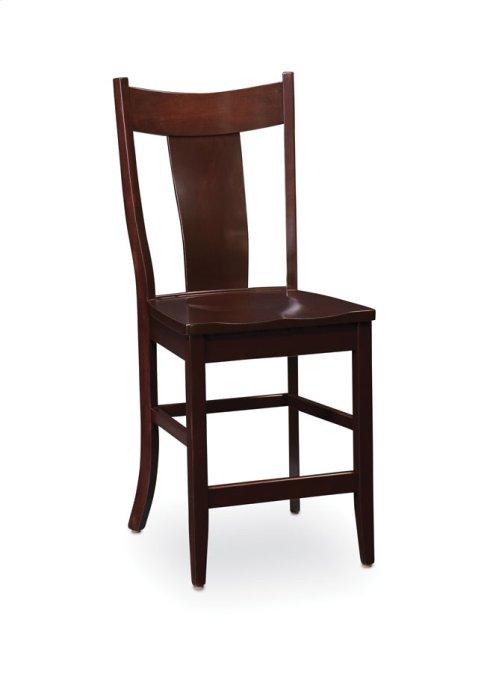 Arnold Stationary Barstool, Leather Cushion Seat