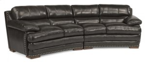 Dylan Leather Conversation Sofa with Nailhead Trim