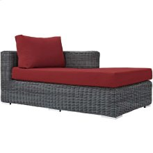 Summon Outdoor Patio Sunbrella® Right Arm Chaise in Canvas Red