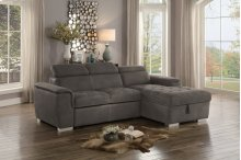 Sunset Trading Metro Pullout Sleeper Sectional with Storage - Sunset Trading