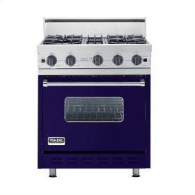 """Cobalt Blue 30"""" Open Burner Range - VGIC (30"""" wide, four burners)"""