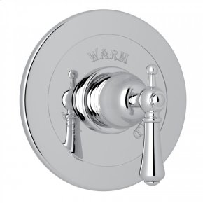 Polished Chrome Perrin & Rowe Georgian Era Integrated Volume Control Pressure Balance Trim Without Diverter with Georgian Era Solid Metal Lever
