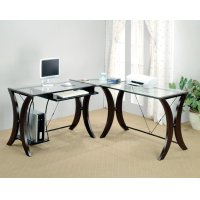 Contemporary Cappuccino Desk Set Product Image