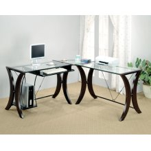 Contemporary Cappuccino Desk Set