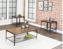 Valee-rustic Oak W/shelf 3pk