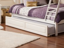Raised Panel Trundle Twin/Full in White