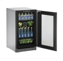 """2000 Series 18"""" Glass Door Refrigerator With Integrated Frame Finish and Field Reversible Door Swing"""
