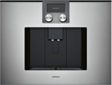 200 Series Fully Automatic Espresso Machine Glass Front In Gaggenau Metallic
