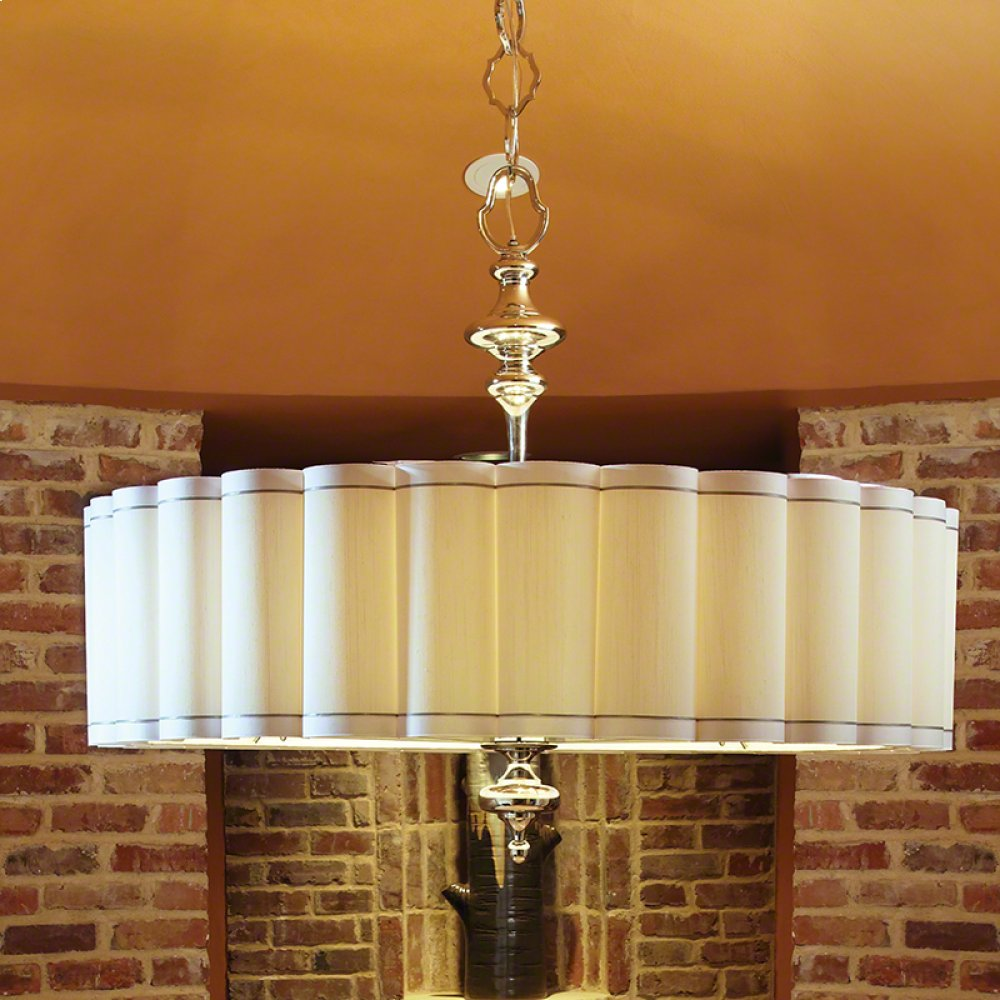 Fluted Pendant-Nickel-Enormous