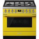 "Portofino Pro-Style Gas Range, Yellow, 36"" x 25"" Product Image"