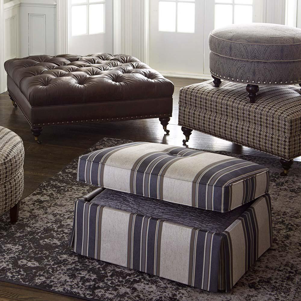 Custom Ottoman Storage Ottoman & 1000S2 in by Bassett Furniture in Greenville SC - Custom Ottoman ...