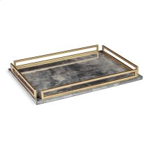 Seraphina Grand Tray - Charcoal Vellum