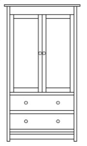 Trenton Armoire Product Image