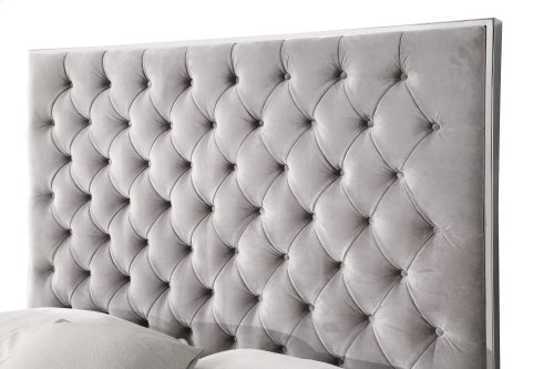 Emerald Home Lacey Upholstered Queen Footboard Silver Gray B132-10fbr-03