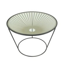 Metal & Glass Accent Table