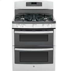 "GE® 30"" Free-Standing Gas Double Oven Range with Convection"