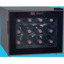 12-Bottle Capacity Thermoelectric Wine Cellar with Electronic Control LED Display