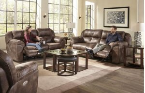 CATNAPPER 61899LS Ferrington Dusk Power Reclining Console Loveseat