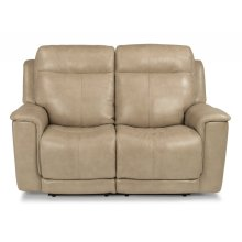 Miller Leather Power Reclining Loveseat with Power Headrests