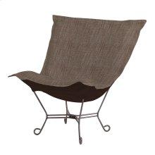Scroll Puff Chair Coco Slate Titanium Frame