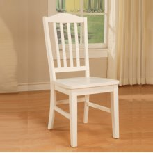 """Color Story Pure White Side Chair, 18-3/8"""" Seat Height"""