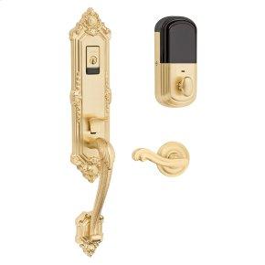 Satin Brass Evolved Kensington Handleset