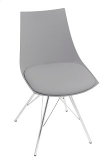 Emerald Home Audrey Dining Chair Gray Seat-chrome Base D119chr-32-03