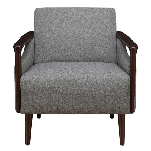 Mid-century Modern Grey Accent Chair