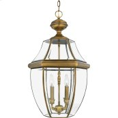 Newbury Outdoor Lantern in Antique Brass