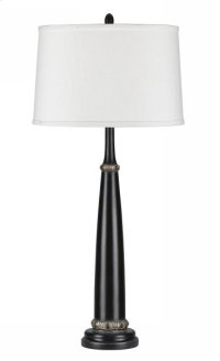 150W 3 way medallion resin table lamp Product Image