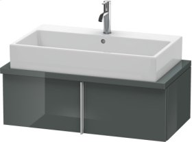 Vero Vanity Unit For Console Compact, Dolomiti Grey High Gloss Lacquer