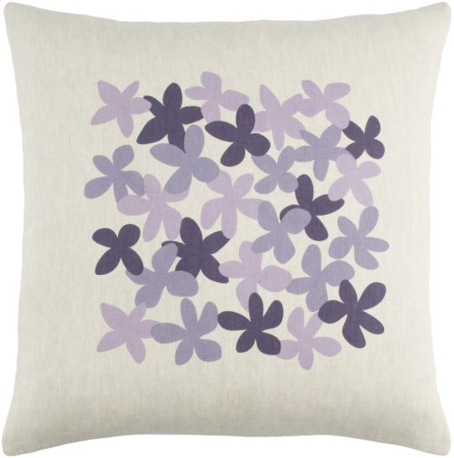 """Little Flower LE-004 20"""" x 20"""" Pillow Shell with Polyester Insert"""