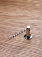 Deck-mounted soap dispenser with extended nozzle - Polished chrome Product Image
