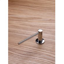 Deck-mounted soap dispenser with extended nozzle - Polished chrome