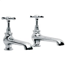 """Long nose bath pillar taps(3/4"""") (1 pair)"""