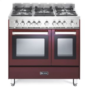 "VeronaBurgundy 36"" Gas Double Oven Range - 'N' Series"