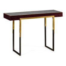 Black Eucalyptus Rectangular Anthracite Shagreen Console Table
