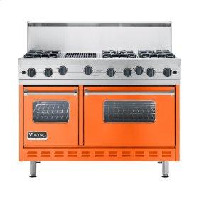 "Pumpkin 48"" Open Burner Commercial Depth Range - VGRC (48"" wide, six burners 12"" wide char-grill)"