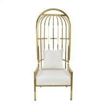 "Metal 72"" Throne Chair, Gold"