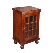 CC-CHE050S-WN  Cottage End Table with Glass Door