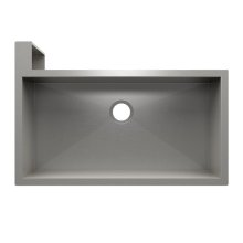 "SocialCorner® 005304 - undermount with apron front stainless steel Kitchen sink , 35"" × 18"" × 10"" Left corner"