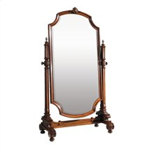 AGED REGENCY FINISHED CHEVAL M IRROR FRAME, BEVELED MIRROR