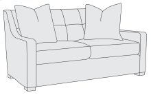 Farrah Loveseat in Mocha (751)