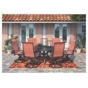 Apple Town - Burnt Orange 2 Piece Patio Set