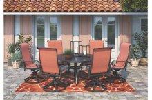 Apple Town - Burnt Orange 2 Piece Patio Set