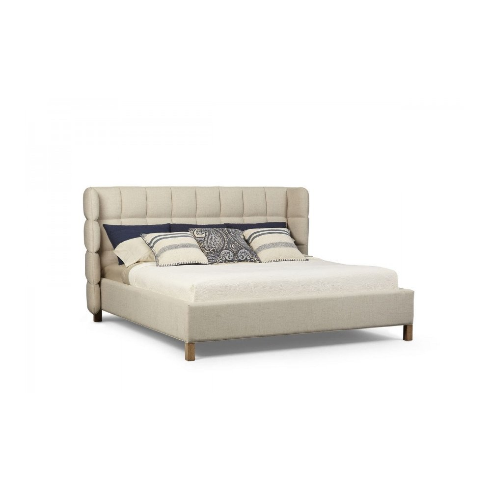 Epicenters Austin North Loop Queen Upholstered Shelter Bed