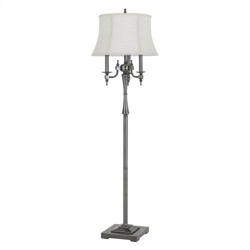 150W 6 Way Madison Metal Floor Lamp With SofTBack Fabric Shade